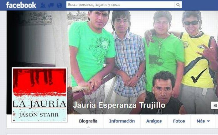 Trujllo gang La Jauria has a Facebook group