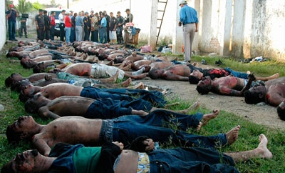 Honduran prisoners killed in a prison fire in 2012