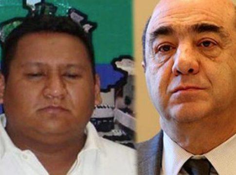 Victor Delgado and Attorney General Jesus Murillo Karam