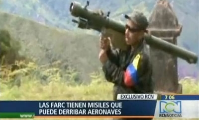 Do the FARC possess surface-to-air missiles?