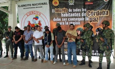Colombia's army lines up BACRIM suspects