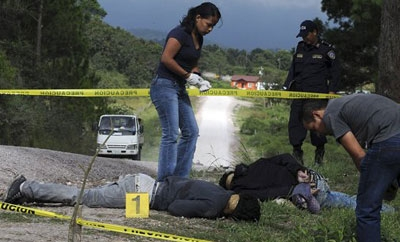 Honduras' homicide rate is the highest in the world