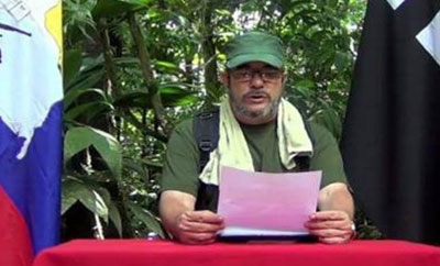 FARC leader Timochenko reads joint statement