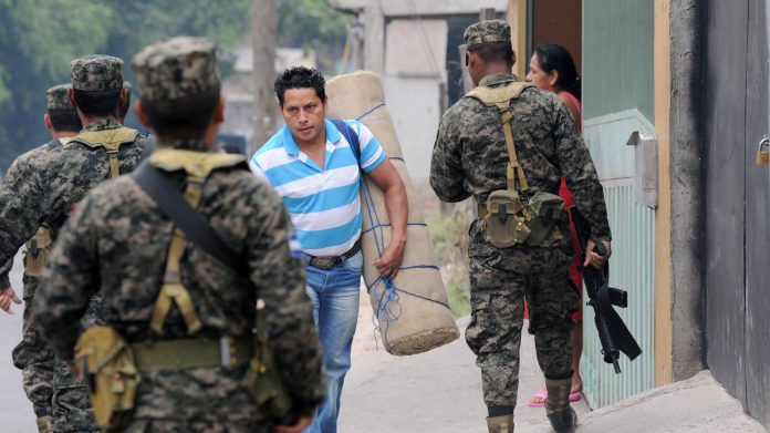 A military patrol in Honduras