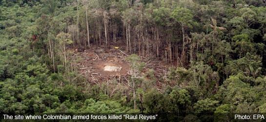 Bombed FARC camp in Ecuador in 2008