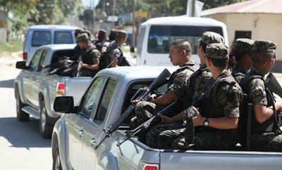 Honduras military patrols city streets