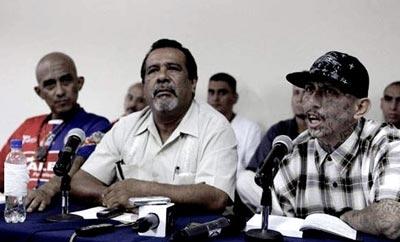 Gang leaders and truce mediators meet