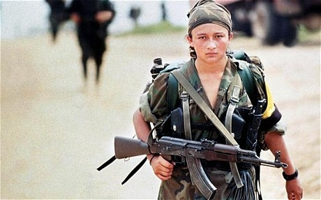 A FARC soldier