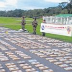 The FARC cocaine seized by Colombian forces