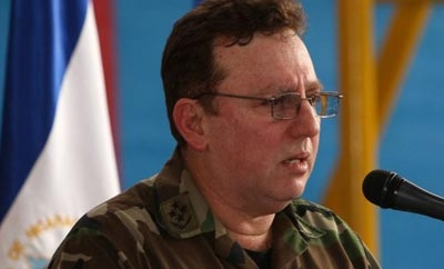 Nicaraguan army chief Julio Cesar Aviles