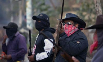 Self-defense groups in dispute with the military in Guerrero