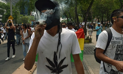 Mexico City residents march for legalization in 2012
