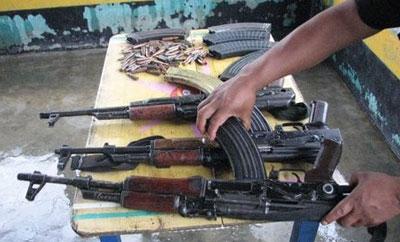 AK-47s seized in Guatemala