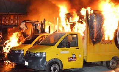 2012 attack on Sabritas installations