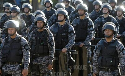 Brazil's military police at recent protests
