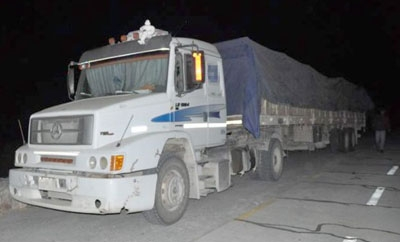 The truck found to be carrying a 25-ton precursor shipment