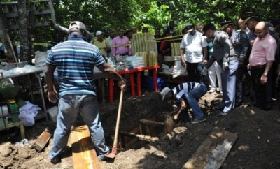 Dominican authorities excavate the underground lab