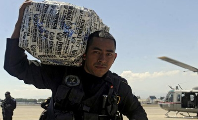 A Guatemalan drug bust