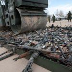 Guns destroyed in Ciudad Juarez, Mexico