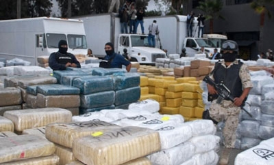 Drugs recovered from vehicles by El Salvador police