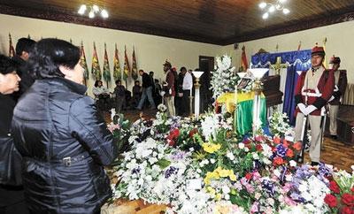 Funeral of soldier Oscar Gironda Porres