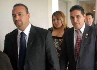 Congressman Wilver Alexander Rivera Monge (left)