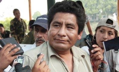 Bolivian Director of Coca Industrialization Luis Cutipa