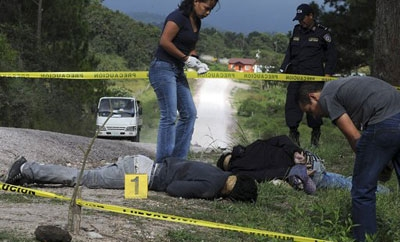 Victims of the violence in Honduras