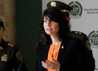 Interpol's Aline Plancon addresses journalists