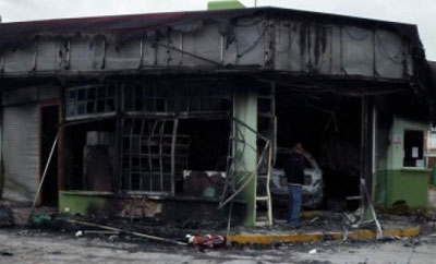 Michoacan electrical plant after attack