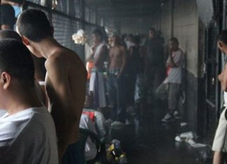 MS13 members in the Ciudad Barrios prison