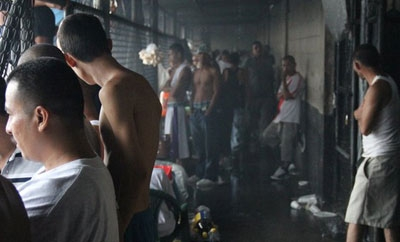 MS13 members in the Ciudad Barrios prison