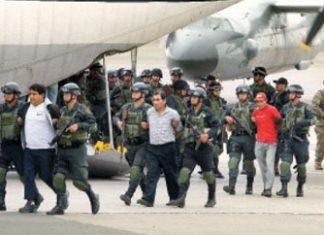Drug traffickers in custody of Peruvian military