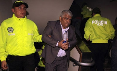 One of the 11 arrested Colombian court officials