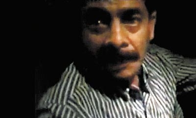 Still from Kidnapping video of Teloloapan Mayor