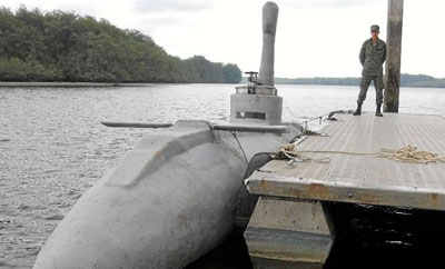 The latest 'narco-sub' to be discovered in Ecuador