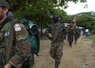 FARC guerrillas in Puerto Guzman