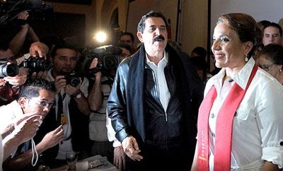 Manuel Zelaya and Xiomara Castro