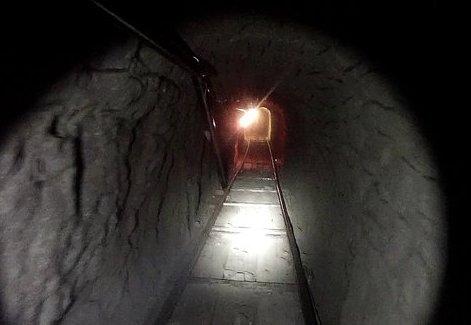 The tunnel had light, ventilation and a railway