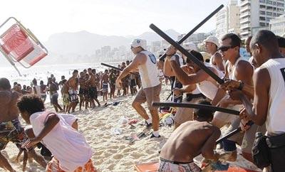 An arrastoe in Rio, Brazil