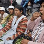 Bolivians chewing coca leaves