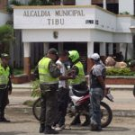 Police in Tibu, a municipality due to receive US assistance