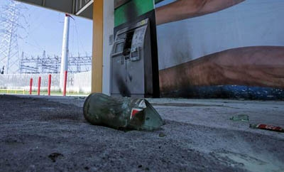 Remnants of attack on power plant in Michoacan