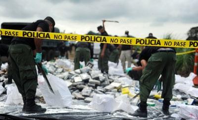 Police in Panama prepare to destroy seized drugs