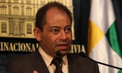 Bolivian Interior Minister Carlos Romero