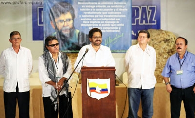 Members of the FARC negotiating team
