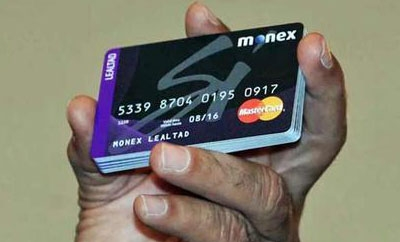 Cards issued by Monex