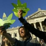 Pro legalization activists in Uruguay