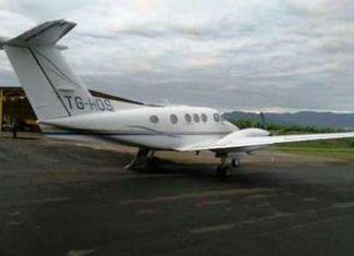 The drug plane caught in Limon, Costa Rica