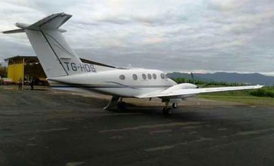 The drug plane caught in Limon, Costa Rica